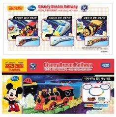 미키마우스 칼라 레일 세트 1종 및 미키 웨스턴 작동기차, 도날드덕 마린 작동기차, 곰돌이 푸 꿀통 작동기차 3종류의 디즈니 기차를 수입 판매할 예정입니다.   프라레일 시스템을 적용해서 토마스기차 레일과 모두 호환되어 연결 및 조립이 가능합니다. [출처] 디즈니 드림 레일웨이 상품 수입판매 예정입니다.|작성자 조이토이쇼핑몰  www.joytoyz.co.kr