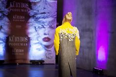 Nadin Smo design-unique wool felted #coat  from #lithuaniandesigner #catwalk #nadinsmo #felting