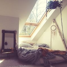 I wan this so bad. I want to lay there at night, in your arms, and watch the storm roll by. Wind, thunder, lightning.