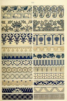 Examples of Chinese ornament selected from objects in the South Kensigton Museum - Owen Jones 1867