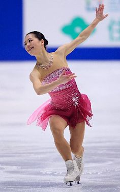 Akiko Suzuki -Pink Figure Skating / Ice Skating dress inspiration for Sk8 Gr8 Designs.