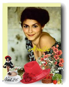 """""""Amelie"""" by satinee ❤ liked on Polyvore featuring DESTIN, red, amelie, hatsinthebelfry.com, audrey tautou and hat"""