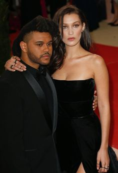 Bella Hadid and Abel Tesfaye at the #MetGala2016.