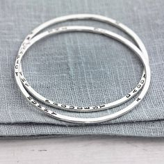 personalised word bangle by posh totty designs boutique | notonthehighstreet.com