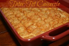 Tater Tot Casserole | The Cookin Chicks