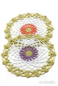15 minutes made crochet doilies, free pattern