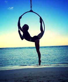 I already plan on moving into Lyra in addition to poling, but I am waiting until I have at least a year of pole under my belt.  Silks would be amazing too, but I love the looks of lyra