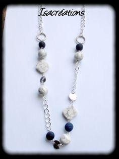 sautoir perles marbre