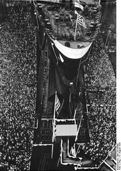 Launch of Norddeutscher Lloyd EUROPA, 1928.