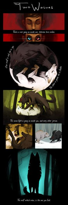 Les deux loups par RhythmAx You are in the right place about anime dessin facile Here we offer you t Anime Wolf, Manga Anime, Deviant Art, Of Wolf And Man, Deep Drawing, Two Wolves, Wolf Stuff, Wolf Quotes, Oui Oui