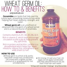 30 Days with Ceramides: Wheat Germ Oil by Just Grow Already! blog