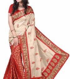 Buy multicolor printed bhagalpuri_silk saree With Blouse below-500 online