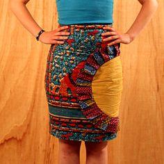Wax Fabric Twist on the Pencil Skirt