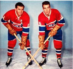 What's better than one Richard? Two Richards . Hockey Shot, Ice Hockey, Hockey Games, Hockey Players, Montreal Canadiens, Henri Richard, Nhl, Little Boy Pictures, Maple Leafs Hockey