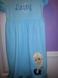 Personalized Elsa from Frozen Dress