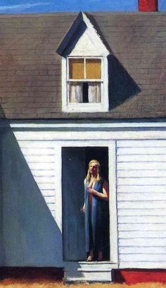 Edward Hopper. High Noon 1949 I love this painting because its very simple and I like how he loves painting women and has women in their simplest plots and like painting them