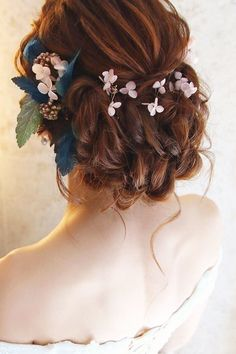 braided wedding hair flower crown red hair christinechiamakeup