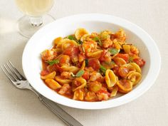 Browse healthy fish and seafood recipes using salmon, shrimp, halibut, tilapia and tuna from Food Network chefs and Food Network Kitchen. Healthy Chicken Recipes, Shrimp Recipes, Pasta Recipes, Cooking Recipes, Healthy Meals, Shellfish Recipes, Weeknight Recipes, Entree Recipes, Lunch Recipes