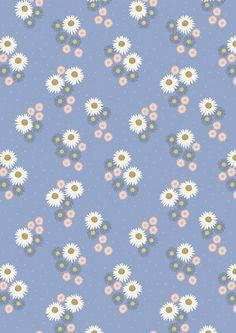 FLO12.2 - Daisies On Blue
