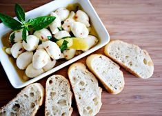 Marinated mozarella recipe.
