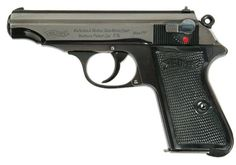 Rare variation of Walther PP with bottom-mounted magazine release. Walther Pp, Indoor Shooting Range, Pocket Pistol, Gun Art, Concept Weapons, Guns And Ammo, Tactical Gear, Firearms, Hand Guns