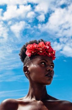 FASHION: Inspired By Nature & One Models Life After Genocide - Beau Monde Society and Photographer Osose Oboh Collaborate On New Photostory, Wildflower – AFROPUNK - Hairstyle for black women Afro Puff, Black Girl Magic, Black Girls, Curly Hair Styles, Natural Hair Styles, Natural Beauty, Afro Hairstyles, American Hairstyles, Hairstyles 2016