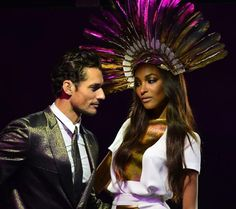 With Jourdan Dunn at the 2012 London Olympics Closing Ceremony