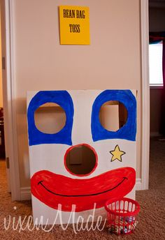 The Circus Party.... Bean Bag Toss Idea....