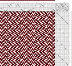 Hand Weaving Draft: Figure 3010, Atlas de 4000 Armures, Louis Serrure, 14S, 24T - Handweaving.net Hand Weaving and Draft Archive