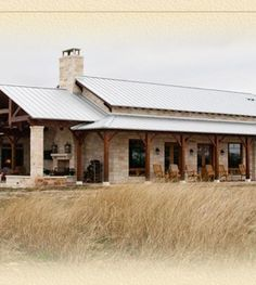 Texas Timber Frames - Frame Homes, Post and Beam Homes, Log House Log Home Plans, Barn Homes Metal Building Homes, Building A House, Building Plans, Style At Home, Hill Country Homes, Country Porches, Texas Hill Country, Log Home Plans, Rustic Home Plans