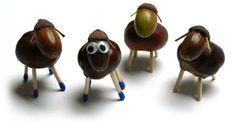 A ramasser : pommes de pin, brindilles, branches, feuilles, marrons, glands...            source pinterest