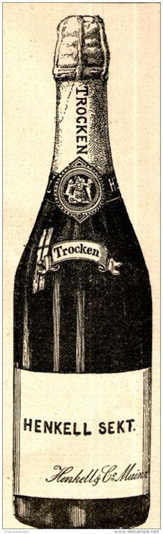 Original-Werbung/ Anzeige 1897 - HENKELL TROCKEN SEKT - ca. 45 x 140 mm