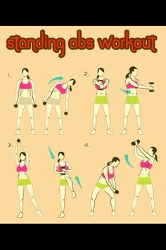 Standing abs workout fitness