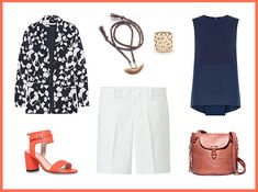 Dress up a pair of Bermuda shorts for work casual look.