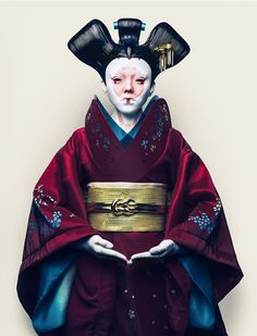 """Geisha from """"Ghost in the Shell"""" - Shell Tattoos, Geisha Art, Drag, Ghost In The Shell, Shell Art, Japan Art, Science Fiction, Fiction Movies, Concept Art"""