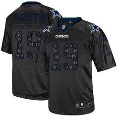 NFL Mens Elite Nike Dallas Cowboys http://#19 Miles Austin New Lights Out Black Jersey