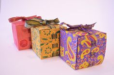 Wedding Favor Gift Box with Ribbon- perfect for Ramadan gifts and treats! Fits all cupcakes, cookies, etc!