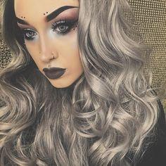 "Escapade  Wig: @donalovehair ""Black to Grey Ombré"" USE CODE: ""FULLMETAL"" for $$ OFF! Eyes: @makeupgeekcosmetics ""Unexpected"" ""Vintage"""