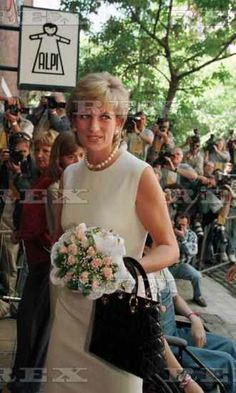 November 23, 1995: HRH Diana, Princess of Wales Visiting the ALPI Children's Hospital in Buenos Aries, Argentina.