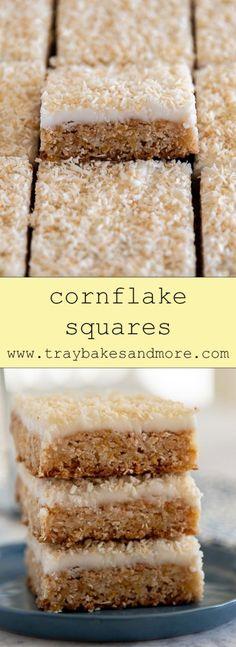 Tray Bake Recipes, Easy Baking Recipes, Cereal Recipes, Coconut Recipes, Cookie Recipes, Shortbread Recipes, Bar Recipes, Cookie Desserts, Baking Ideas