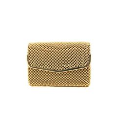Gold Beaded Mail Evening Clutch - Small - $17