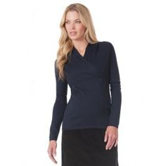 Navy+Cable+Knit+Crossover+Maternity+&+Nursing+Sweater