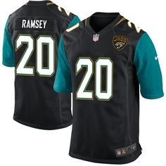 Jalen Ramsey 20 Player Men's Short Sleeve T-Shirt 2016-17 Season Game Jerseys Black Size XXXL(67) -- Awesome products selected by Anna Churchill
