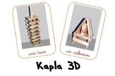 Bouwkaarten kapla 3D / la maternelle des loupiots