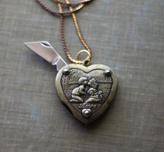 Lover's Heart Pocket Knife Necklace  First Kiss Hidden by contrary