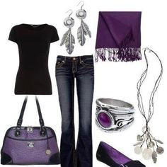 If you love the color purple, then you have to check out the awesome purple bags and color coordinated bag accessories, jewelry and scarves at Grace Adele.  Visit my website:  http://lrmesa.graceadele.us