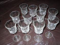 Set of 11 Luminarc France 6 ounce Octagon Wine Glasses picclick.com