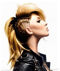 HAIR STYLES FOR LONG HAIR ~ this is freaking awesome!!!! wild side! Luv it!