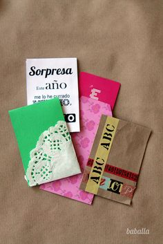 IDEAS SOBRES Y TARJETAS REGALO