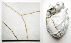 Kintsugi: the value of broken pieces Kintsugi, Land Art, Pagan Poetry, Skull And Bones, Porcelain Ceramics, Wabi Sabi, Fabric Patterns, Sculpting, Ceramic Sculptures